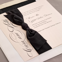 A beautiful checkerboard invitation